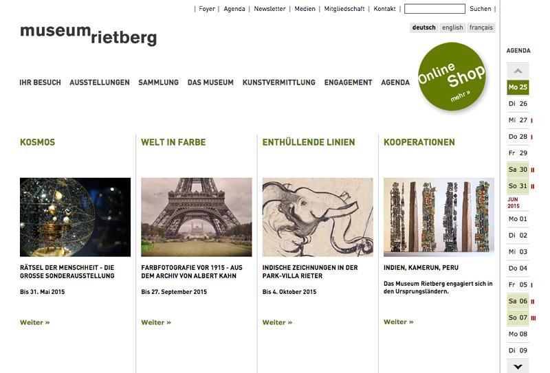 Website Museum Rietberg